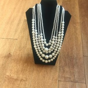 Jewelry - Multi Strand Pearl Necklace w/matching Earrings